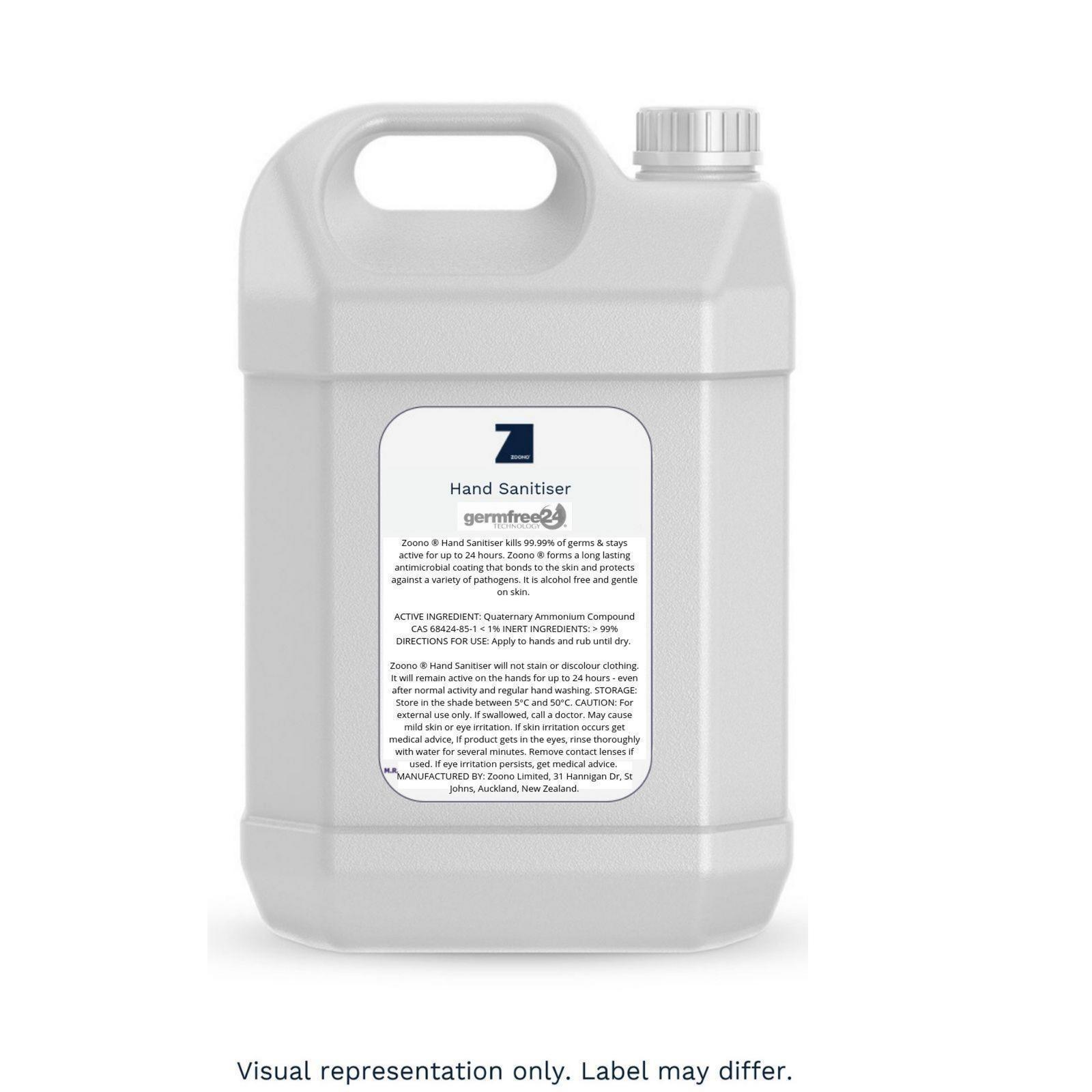 Zoono 24 hour Hand Sanitiser 5L