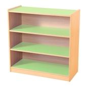 Green & Maple 3 Shelf Bookcase