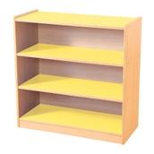 Yellow & Maple 3 Shelf Bookcase
