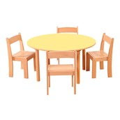 Pastel Round Table with Chairs