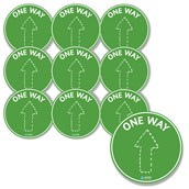 One Way Floor Stickers from Hope Education - Pack of 10