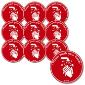 Hand Washing Floor Stickers from Hope Education - Pack of 10