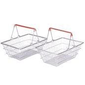 Metal Shopping Basket X 2