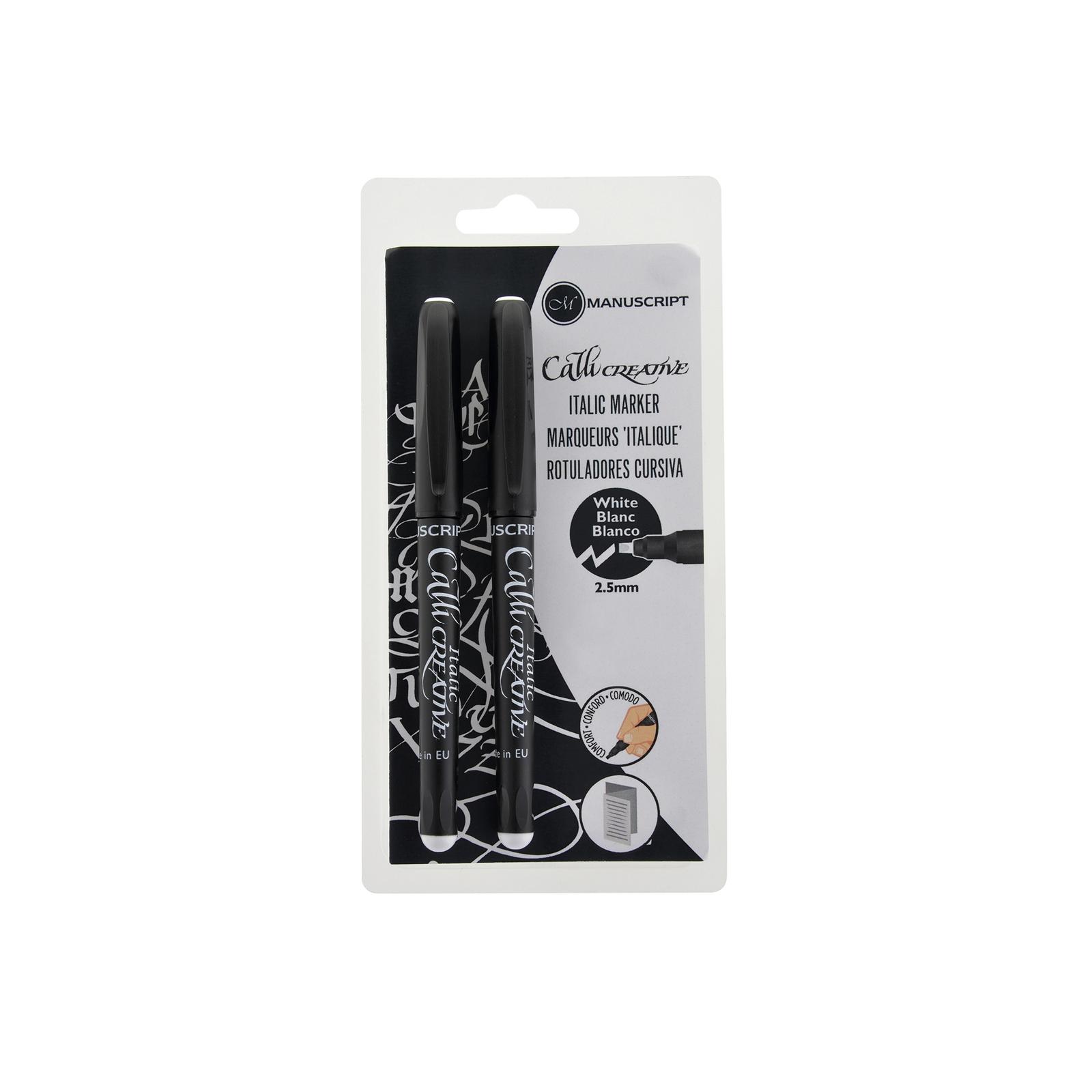 Manuscript Italian Markers - White - Pack of 2