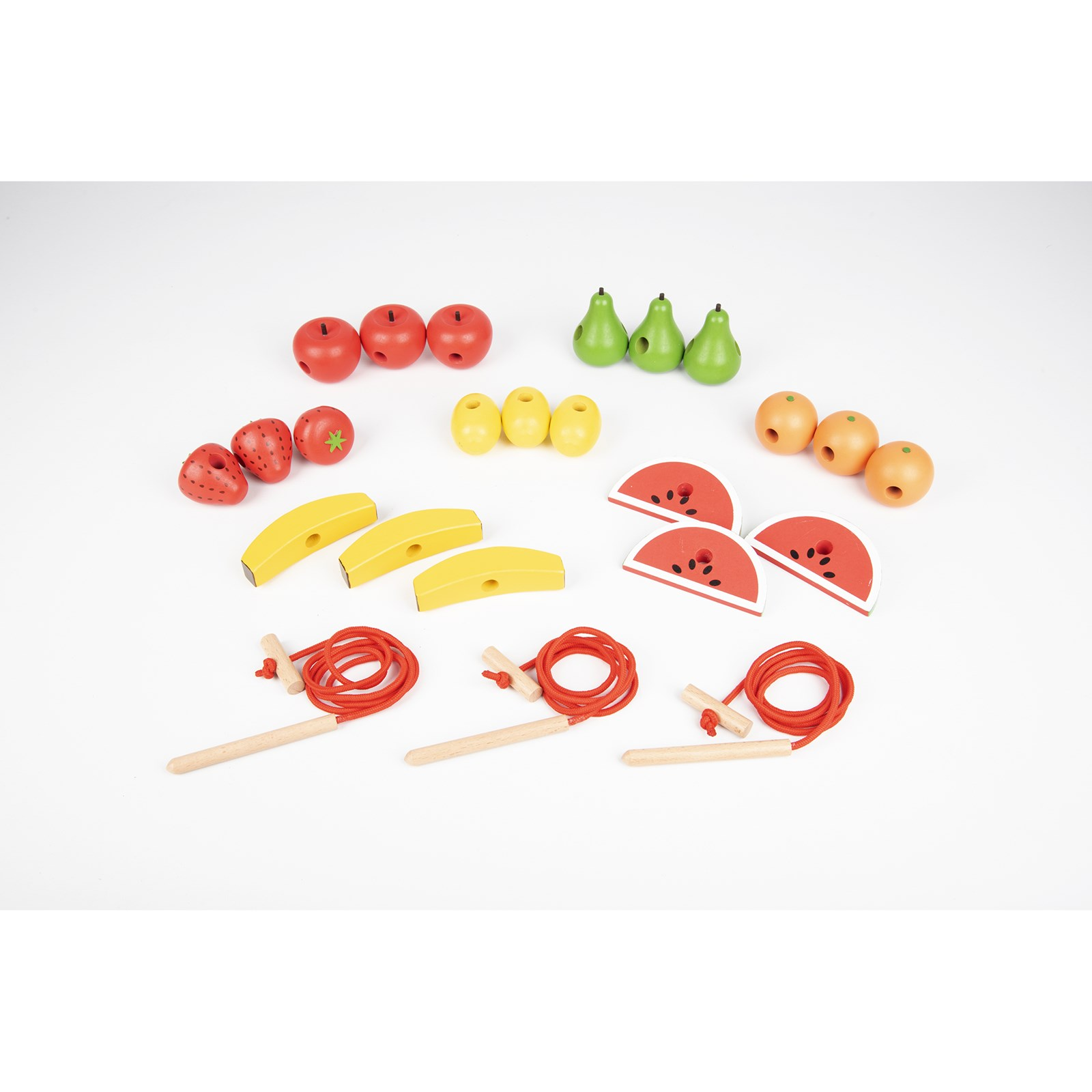 Wooden Lacing Fruits