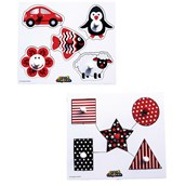 Black and White Peg Puzzles - Pack of 2