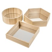 Wooden Mirror Trays from Hope Education - Pack of 3