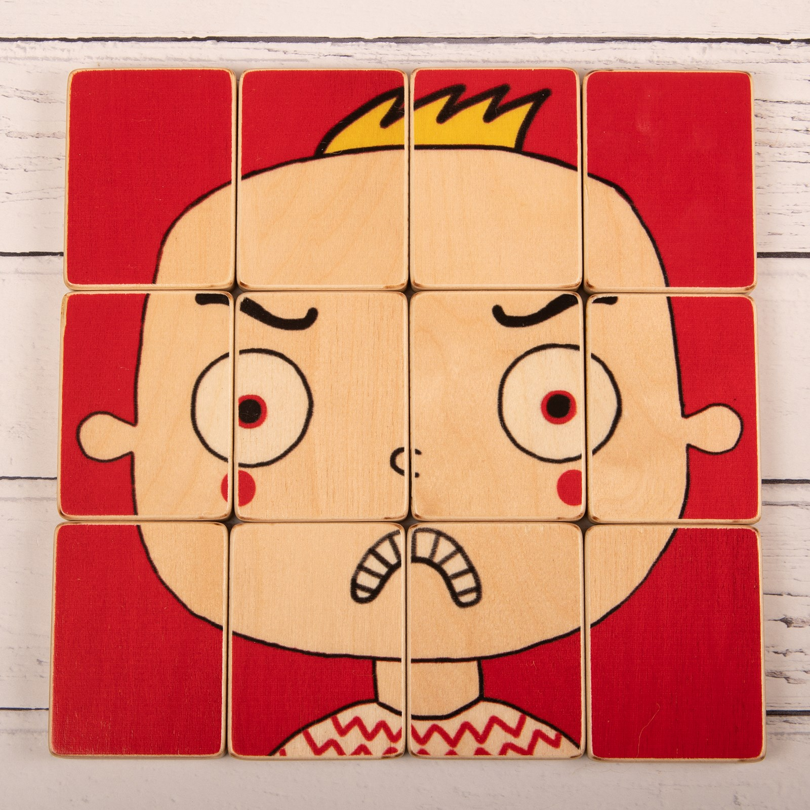Puzzle Heads - Happy and Angry