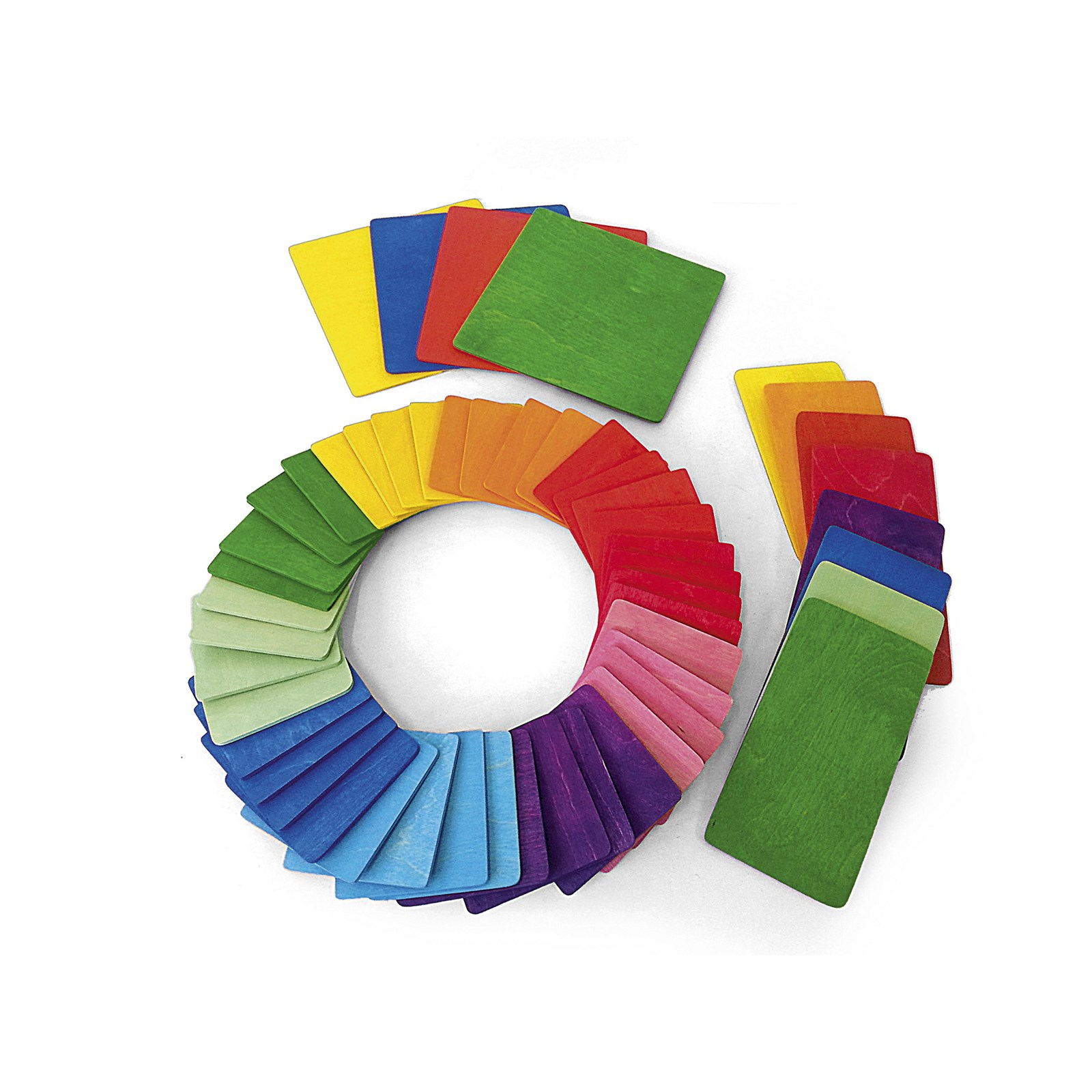 Rainbow Building Tiles - Pack of 52