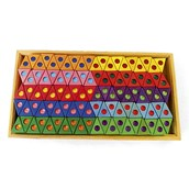 Rainbow Triangles - Pack of 100