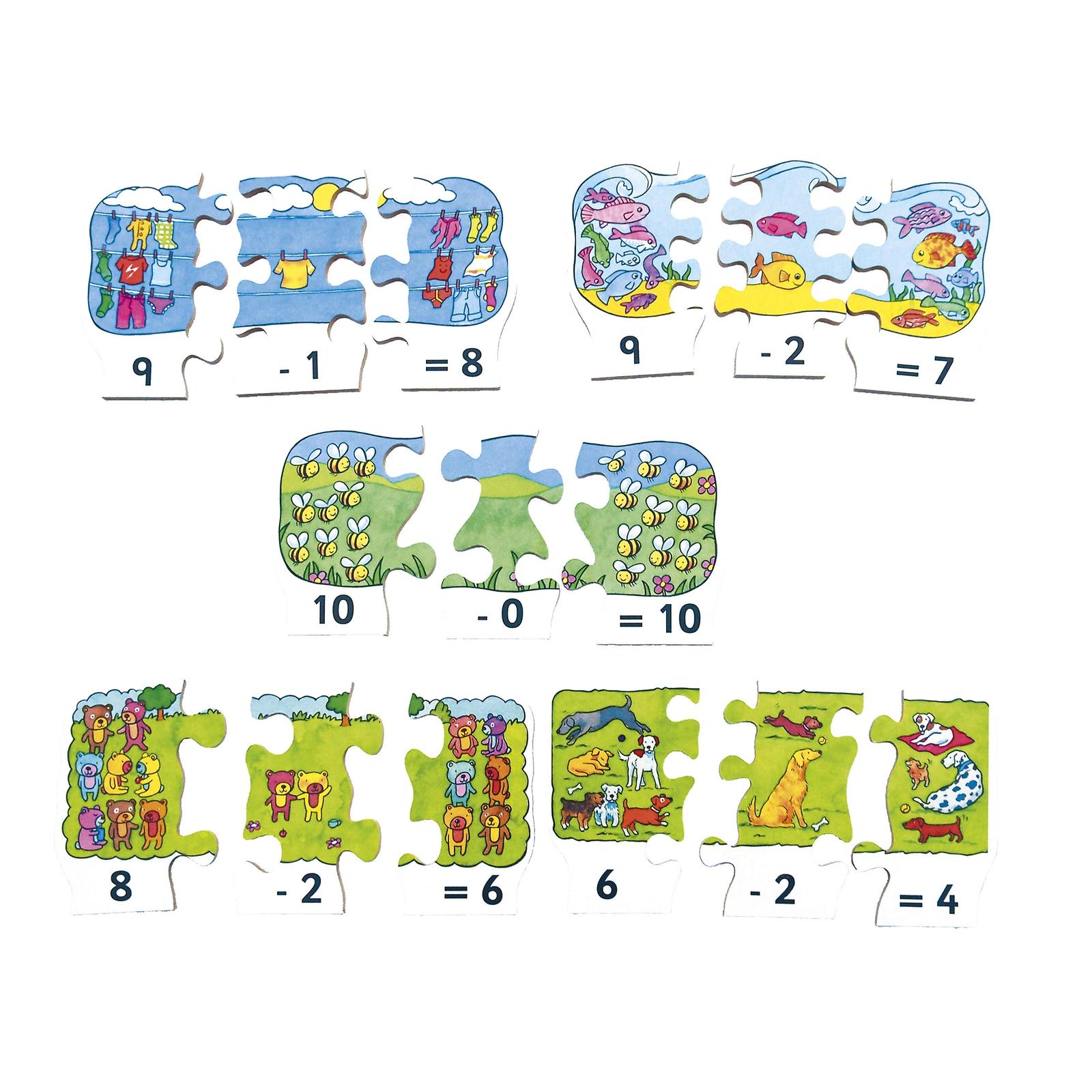 Sum Fun: Subtraction Jigsaw Puzzles