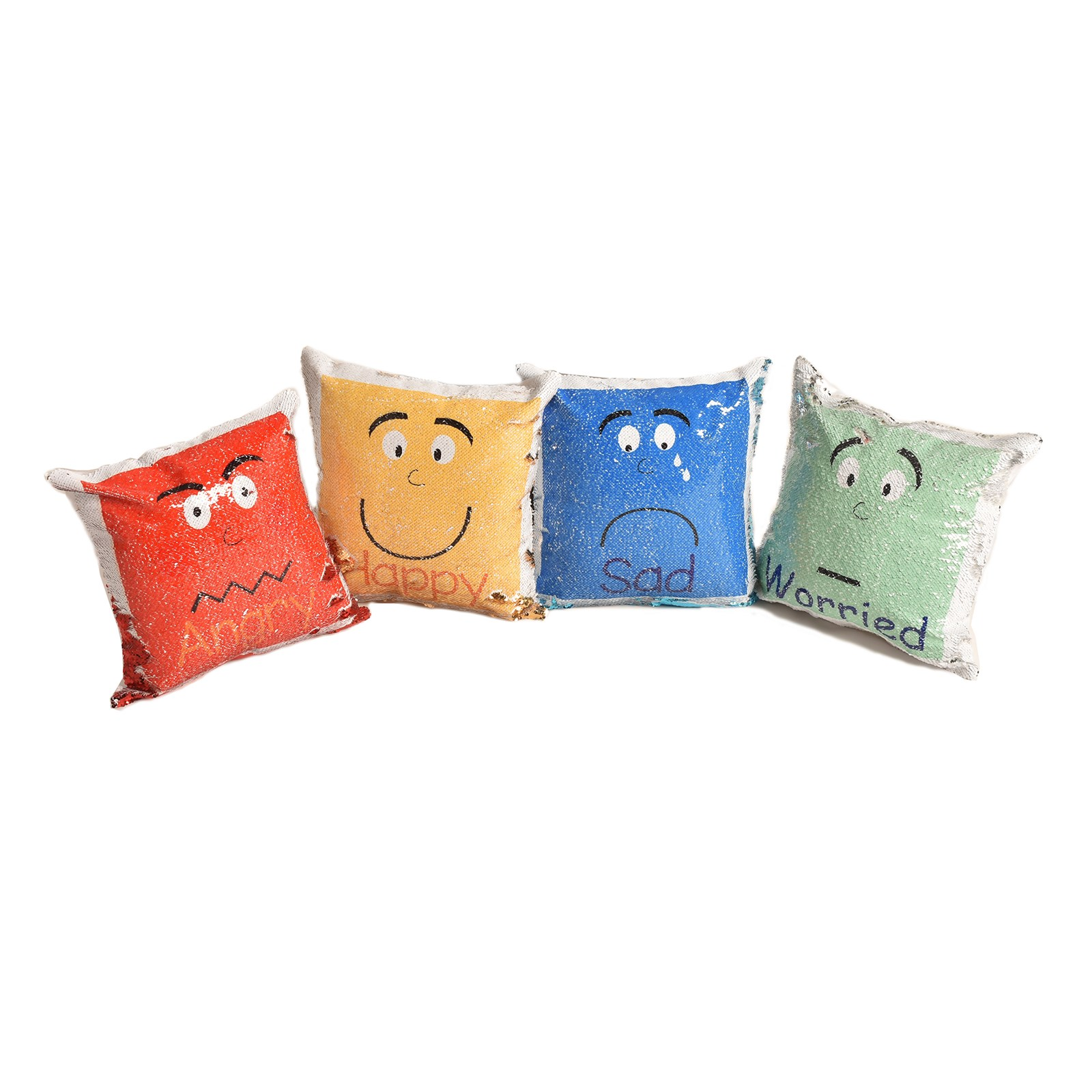 Reversible Sequin Emotion Cushions