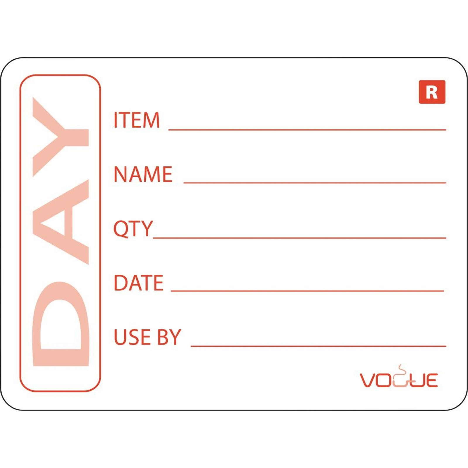 Removable Item/Date/Use By Labels 5cm