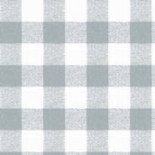 Gingham Table Cloth - Rectangular - Silver/Grey