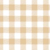 Gingham Table Cloth - Rectangular - Beige