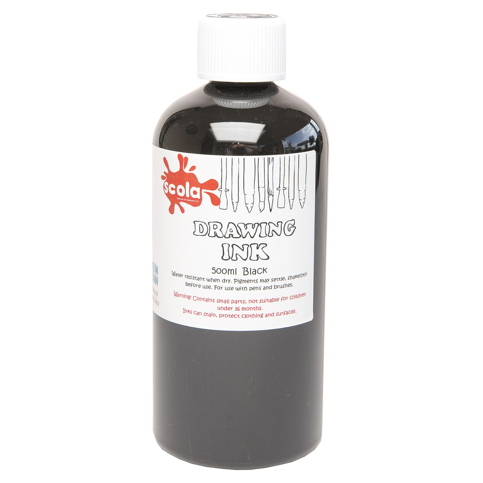 Drawing Ink - 500ml - Red