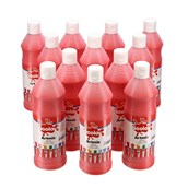 Scola Artmix Ready Mixed Paint - 600ml - Brilliant Red - Pack of 12