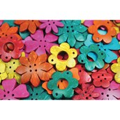 Recycled Coconut Shells - Flowers