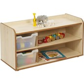 Solway Maple 2 Tray Unit With Shelves