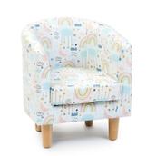 Tub Pastel Chair In Rainbow Print