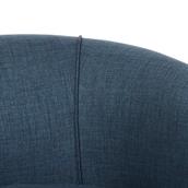 Navy Slub Chenille Tub Chair