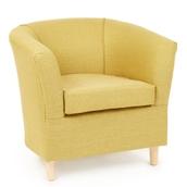 Charteuse Slub Chenille Tub Chair
