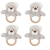 Bigjigs Toys Buddy Bear Touch Ring - Pack of 4