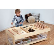 Invest Play Table - 4 Clear Shallow Tubs