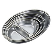 Stainless Steel Divided Serving Dish - 30cm