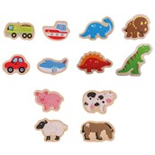 Bigjigs Toys Two Piece Jigsaws - Pack of 12