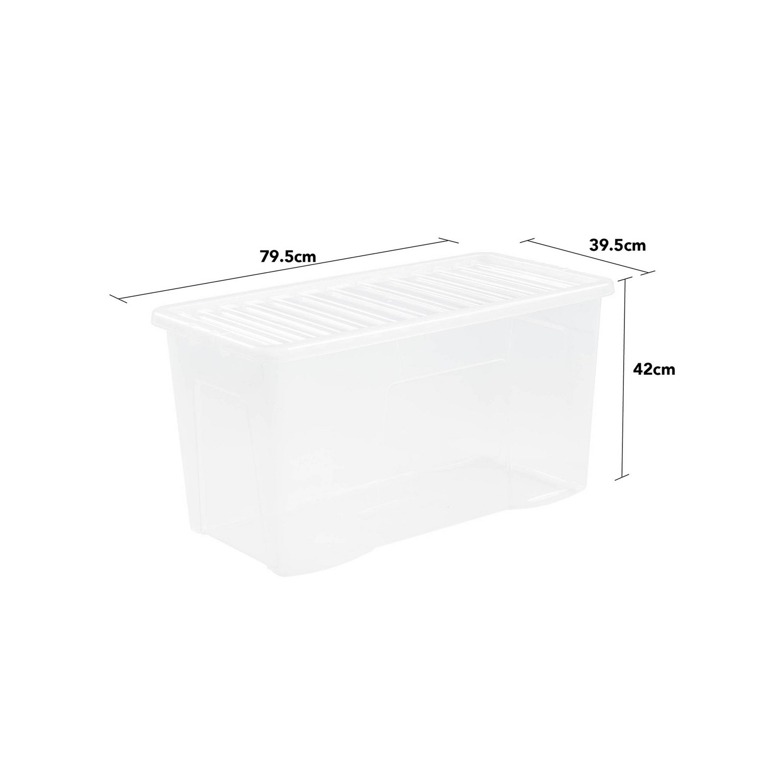 110 Litre Box and Lid - Clear