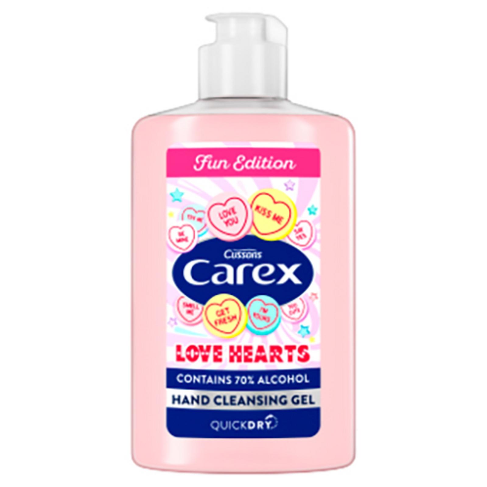 Carex Love Hearts Hand Gel 6 X 300ml