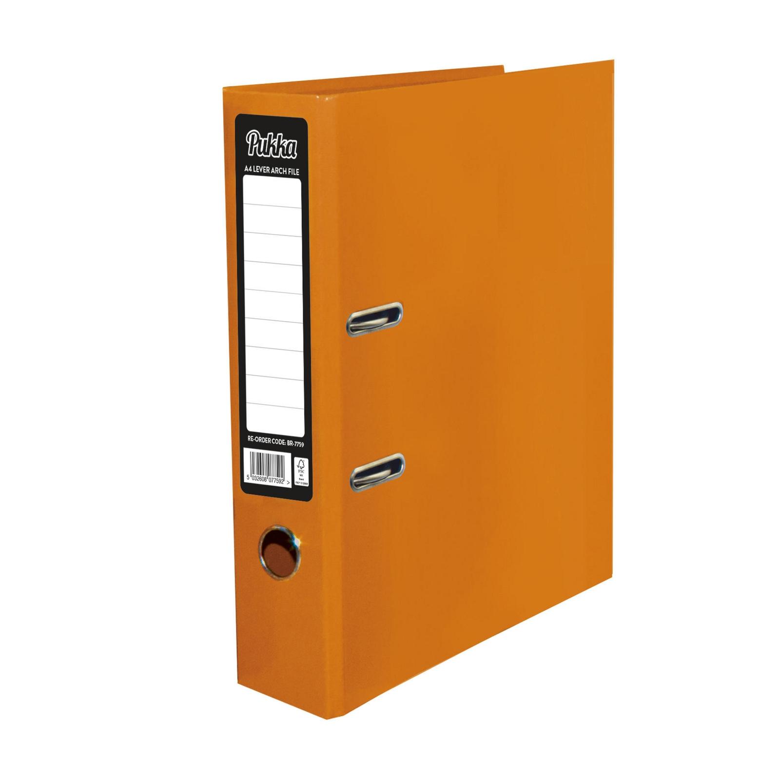 Pukka Lever Arch Files Orange - Pack of 10