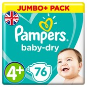 Pampers Baby Dry Size 4+ 76 Pack