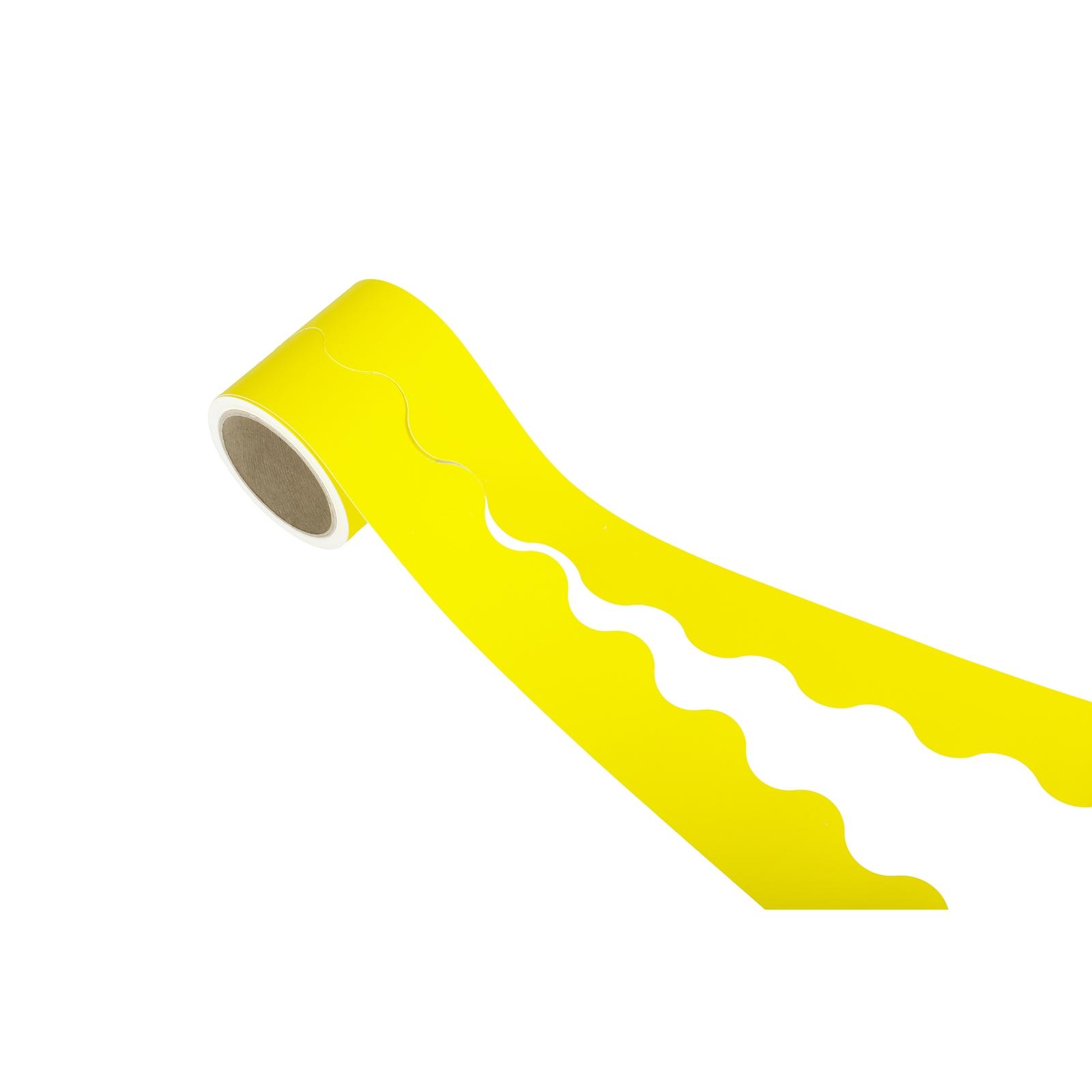 Educraft Card Scalloped Border Rolls - Yellow
