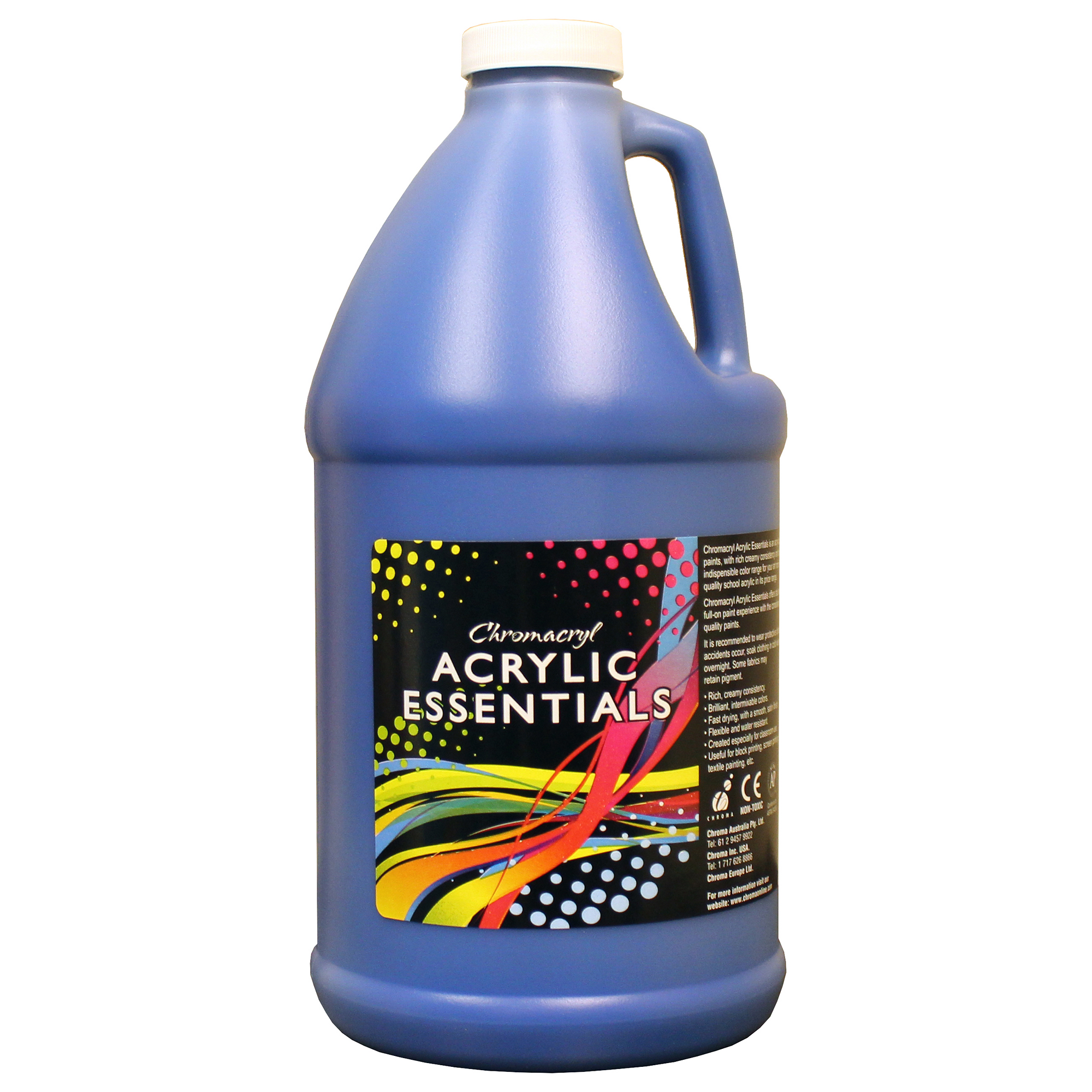 Hc421661 Chromacryl Acrylic Essentials Acrylic Paint In Cool Blue 2 Litre Bottle Findel International