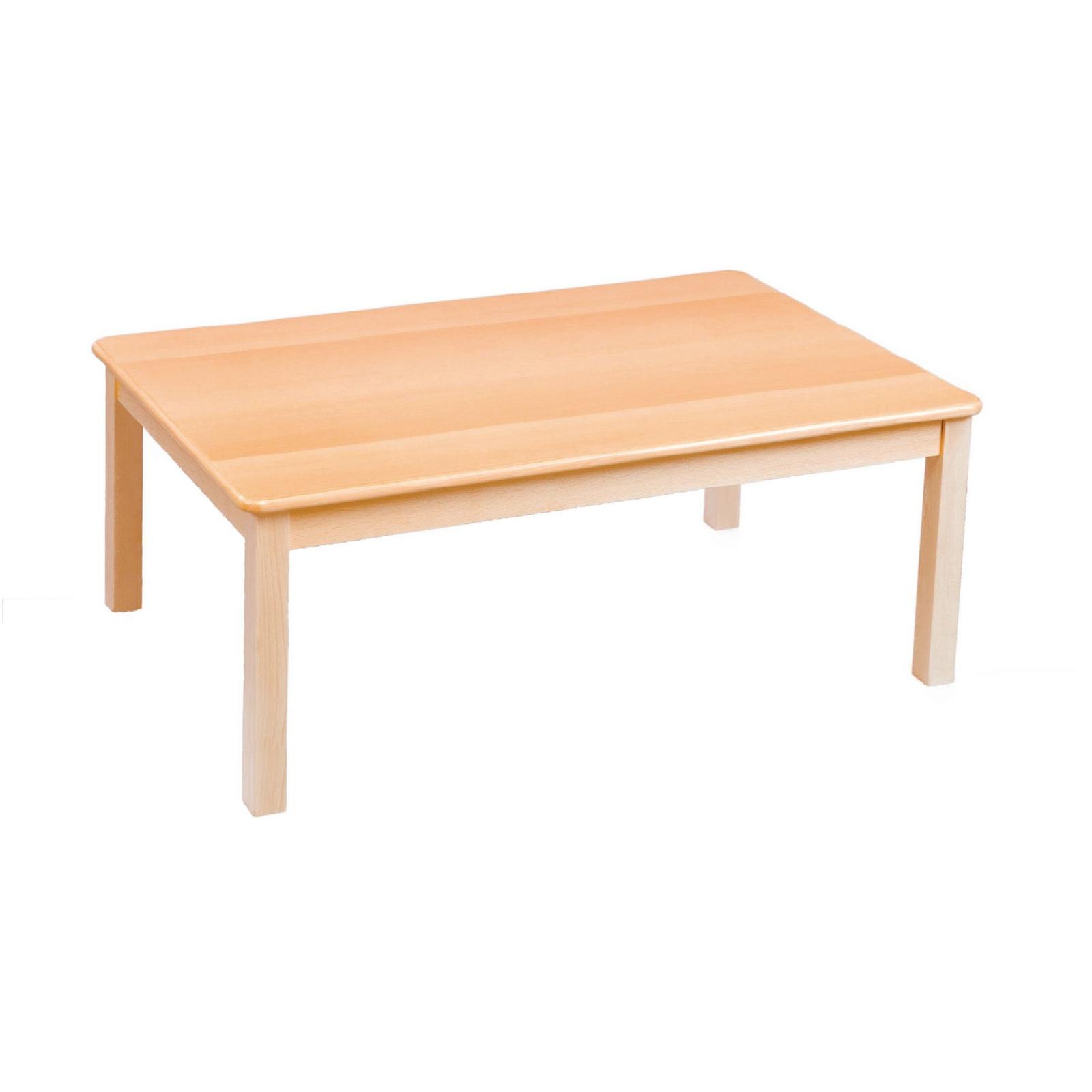 GALT Rectangular Solid Beech Classroom Table - 960 x 690 x 300mm - Beech