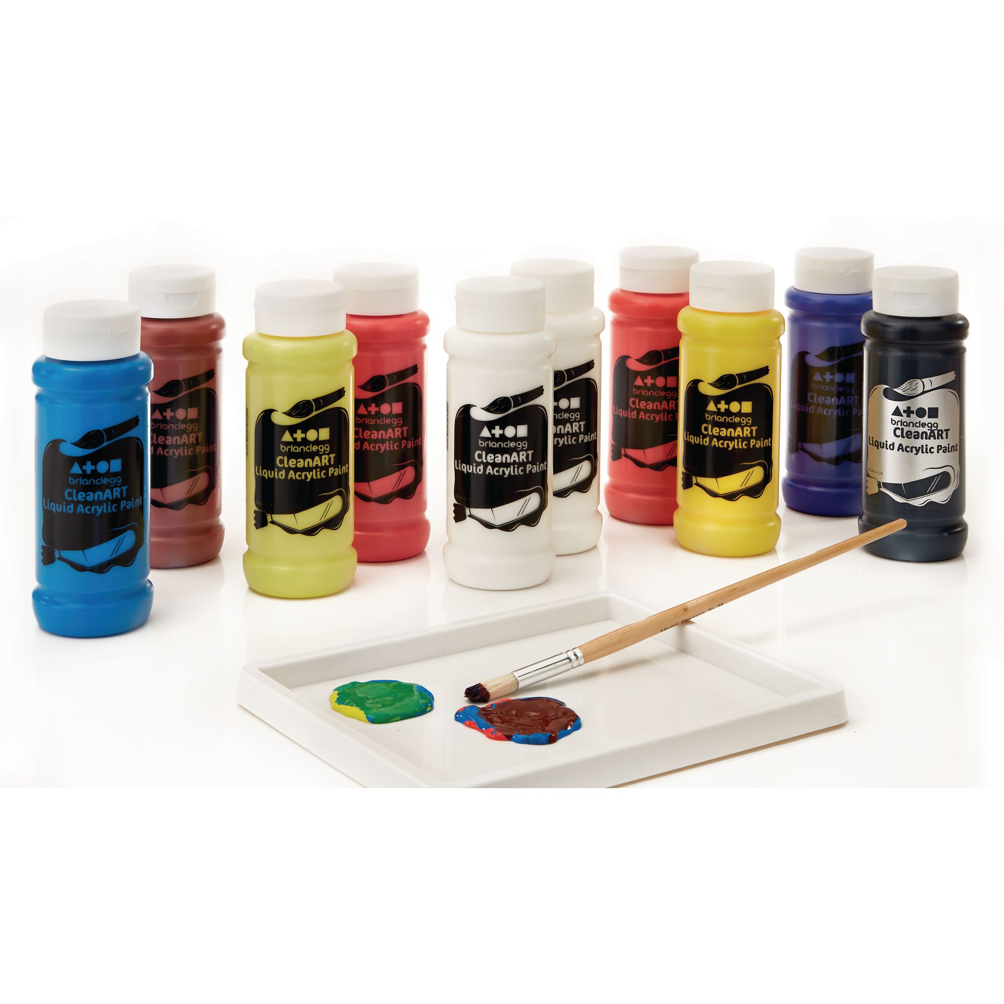 Hc156734 Brian Clegg Colour Mixing Set Acrylic Paint In Assorted 500ml Bottle Findel International