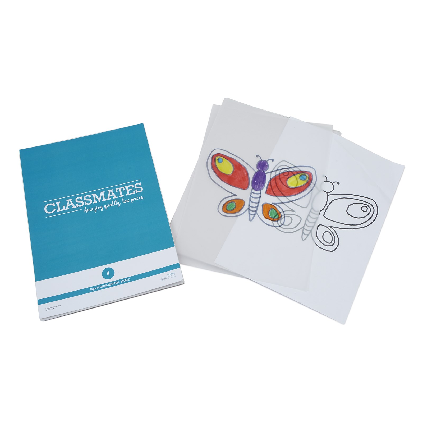 Classmates Tracing Paper Pads - A4 - Pack of 4