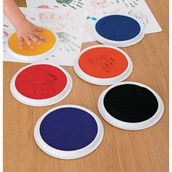 Giant Ink Pads in Assorted - Pack of 6 -