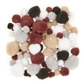 Animal Colour Pom Poms Pack of 100