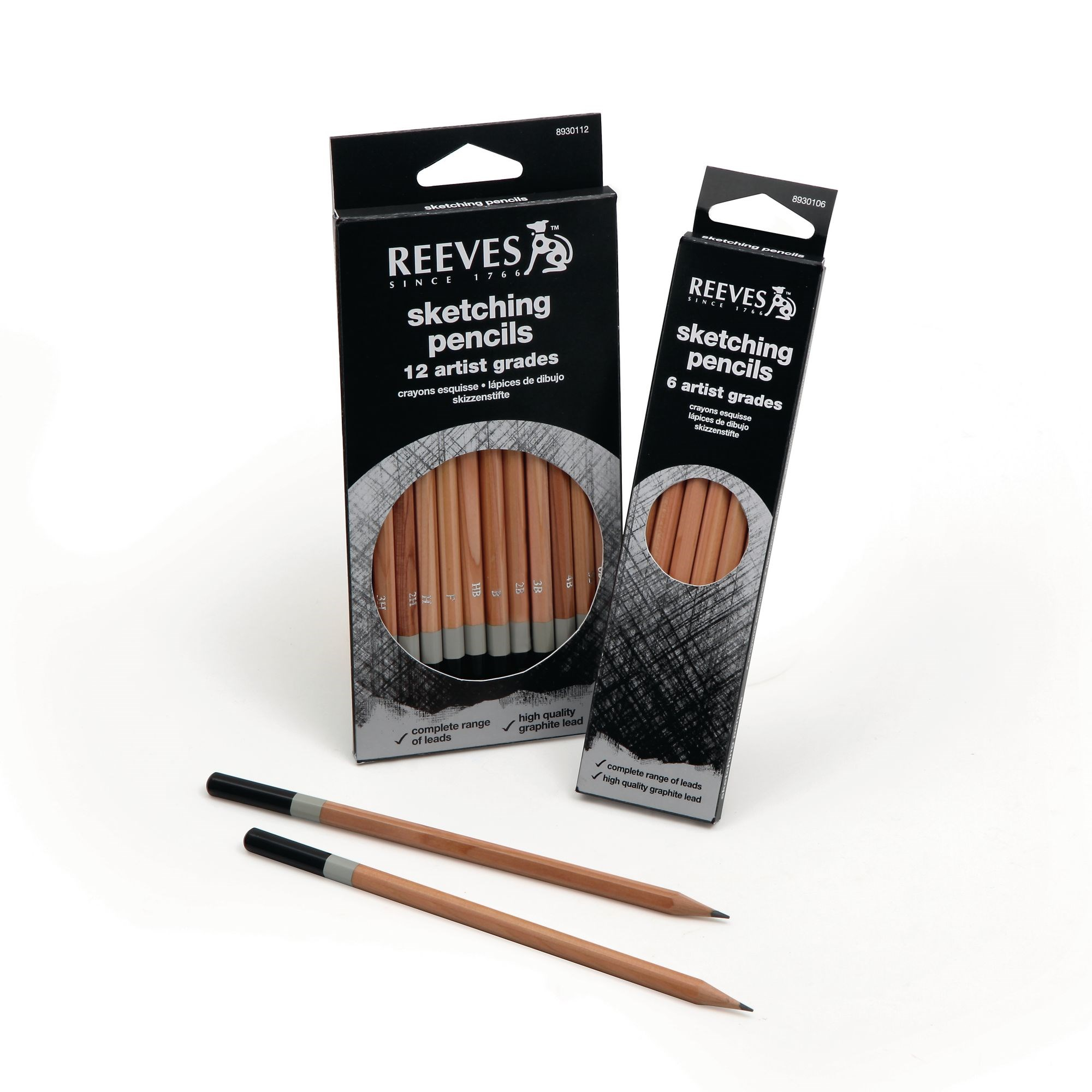 Reeves Sketching Pencils Pk 6