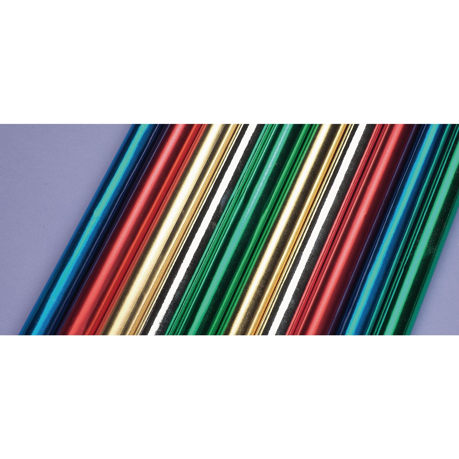 Paper Backed Metal Foil Rolls Assorted  500 x 1500mm - Pack of 10