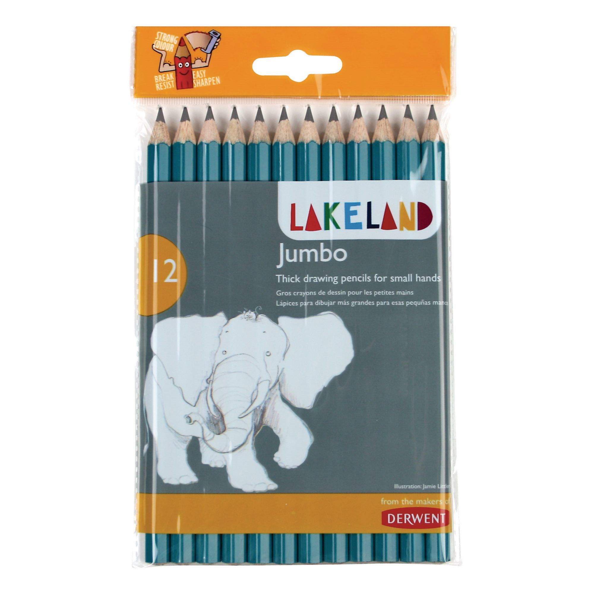 Jumbo Lakeland Graphite Pencils Pk12