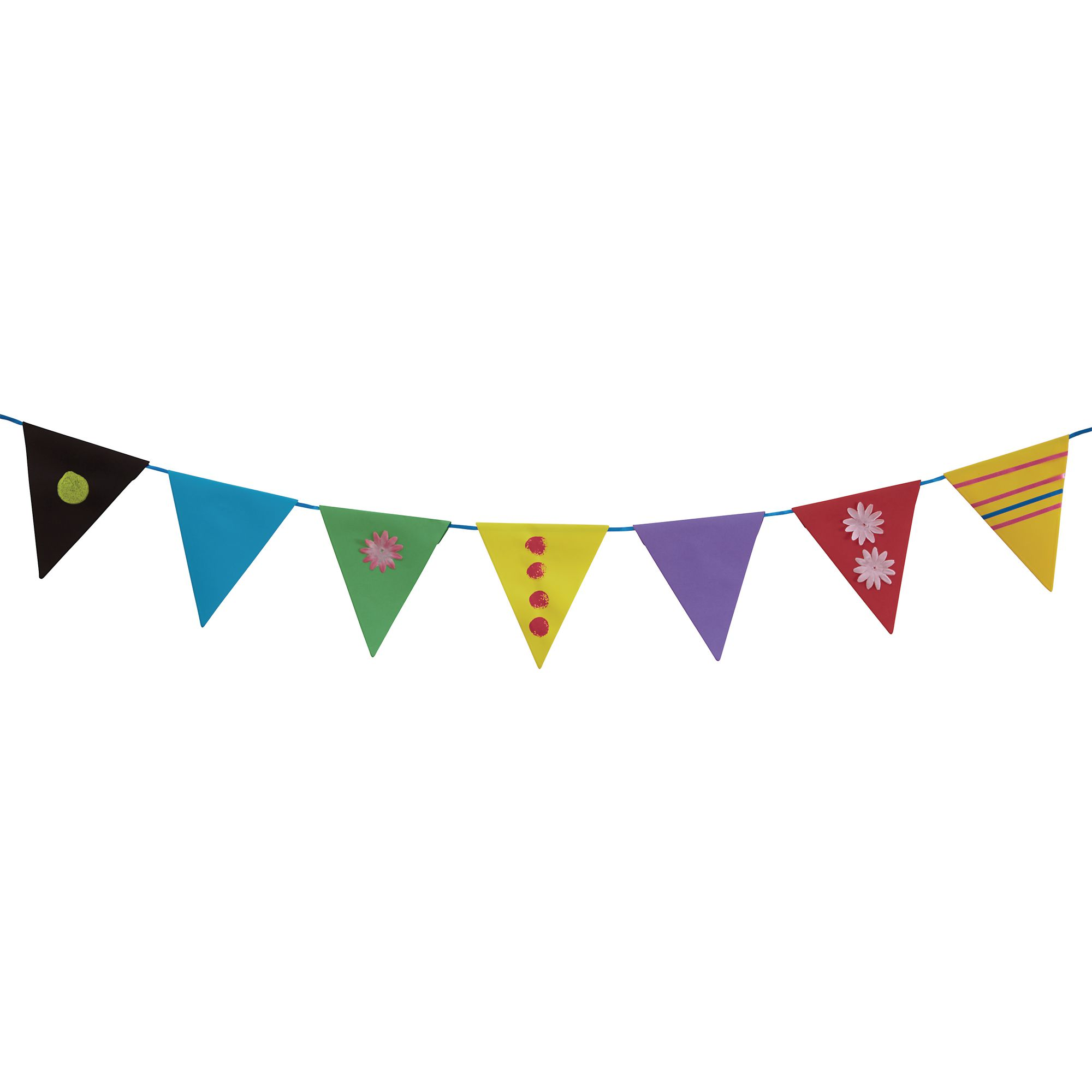 Plain Assorted Bunting Pack Of 120 Hope Education