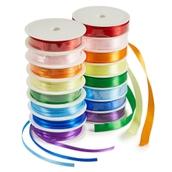 Satin Ribbon Spools - Pack of 16