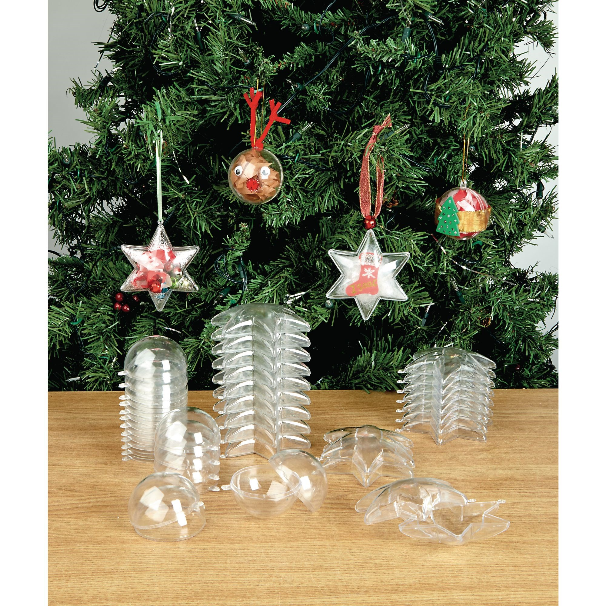 Collage Ornaments Bauble Pk12