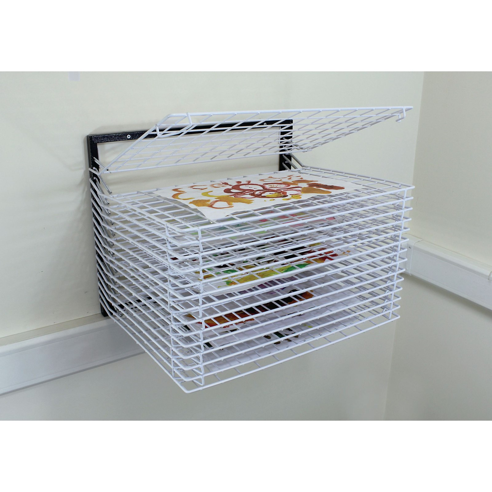Wall Mounted Drying Rack 20 Shelf Ea