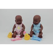 Clothed Newborn Dolls - Black Boy