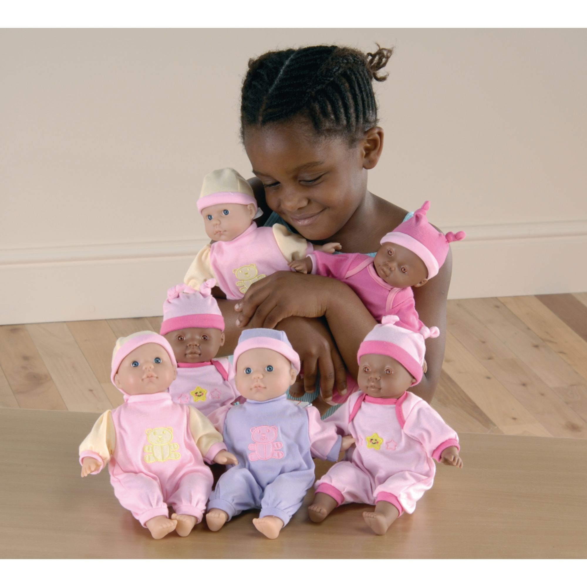 Miniature Soft-Bodied Dolls - Pack of 6